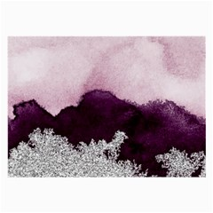 Purple Watercolor Silver Foil Large Glasses Cloth