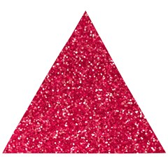 Rose Glitter Pattern Wooden Puzzle Triangle