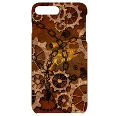 Steampunk Patter With Gears Iphone 7/8 Plus Black Uv Print Case