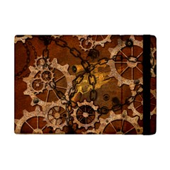 Steampunk Patter With Gears Apple Ipad Mini Flip Case by FantasyWorld7