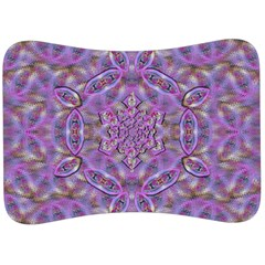 Skyscape In Rainbows And A Flower Star So Bright Velour Seat Head Rest Cushion by pepitasart