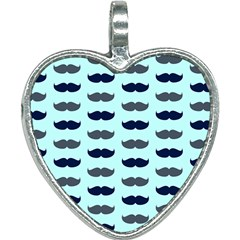 Beard Pattern Heart Necklace
