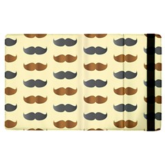Beard Pattern Apple Ipad Pro 12 9   Flip Case by designsbymallika