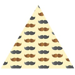 Beard Pattern Wooden Puzzle Triangle