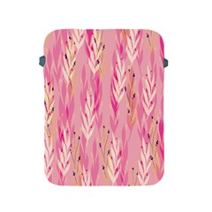 Pink Leaf Pattern Apple Ipad 2/3/4 Protective Soft Cases by designsbymallika