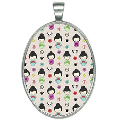 Russian Doll Oval Necklace