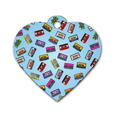 Retro Look Dog Tag Heart (one Side)