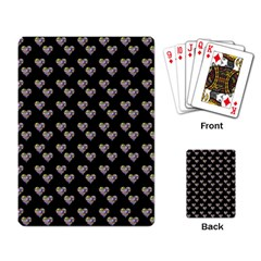 Patchwork Heart Black Playing Cards Single Design (rectangle)