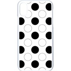 Background Dot Pattern Iphone X Seamless Case (white)