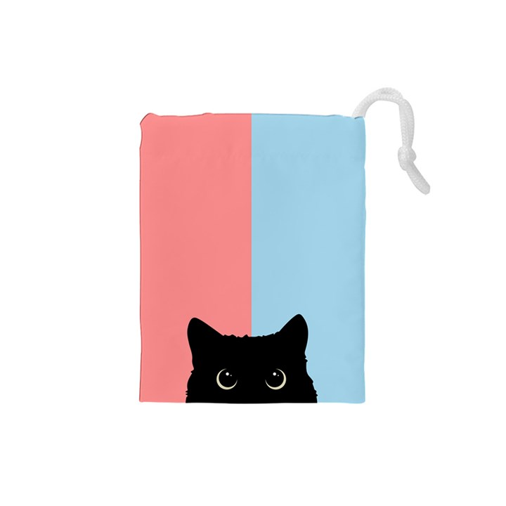 Sneaky cat Drawstring Pouch (Small)