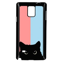 Sneaky Cat Samsung Galaxy Note 4 Case (black)