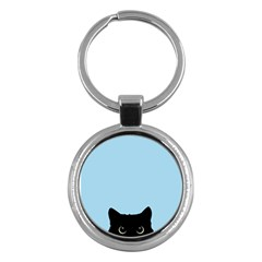 Sneaky Kitty Key Chain (round)
