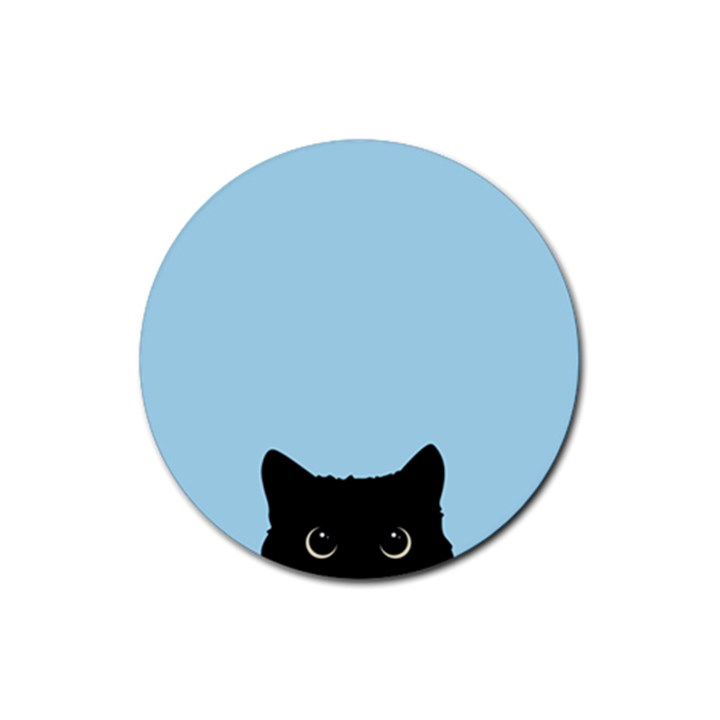 Sneaky kitty Rubber Round Coaster (4 pack)