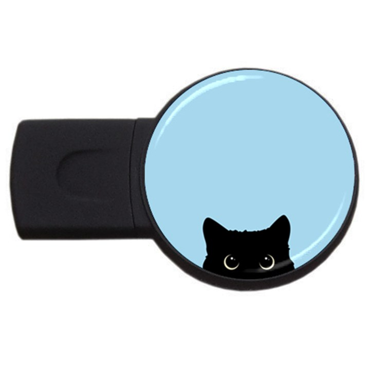 Sneaky kitty USB Flash Drive Round (2 GB)