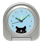 Sneaky kitty Travel Alarm Clock Front