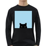 Sneaky kitty Long Sleeve Dark T-Shirt Front