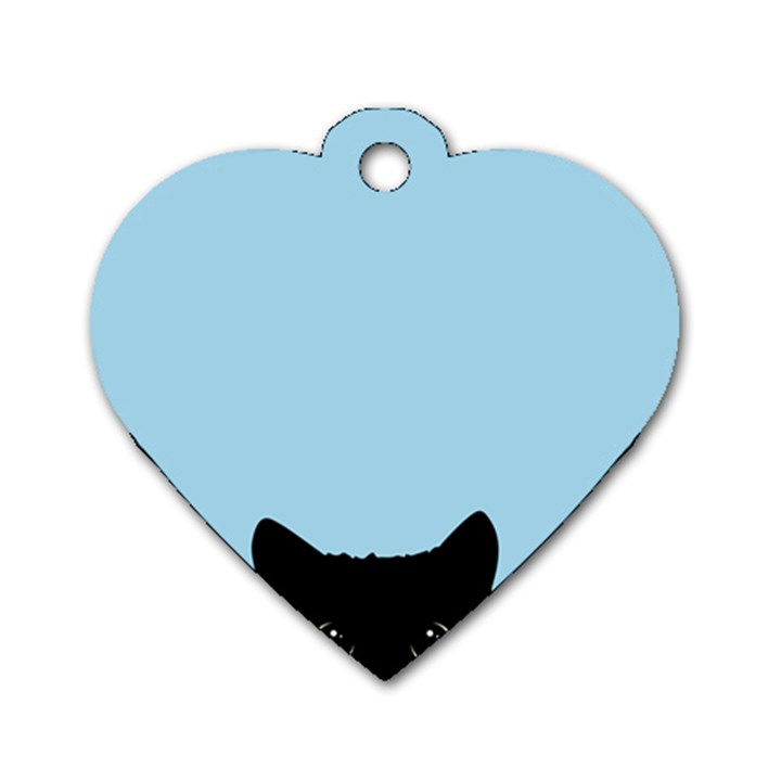 Sneaky kitty Dog Tag Heart (Two Sides)