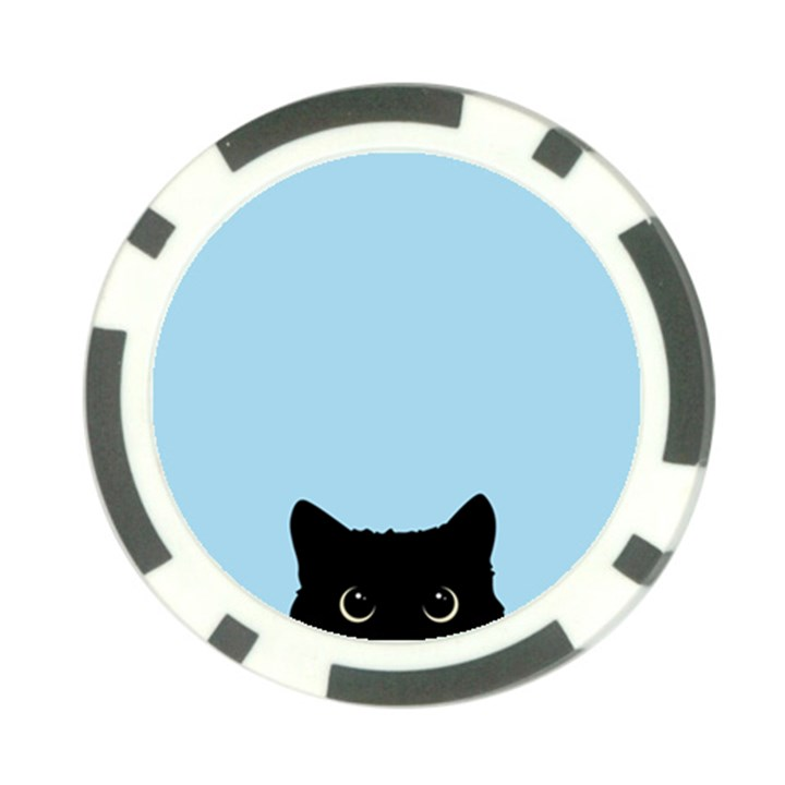 Sneaky kitty Poker Chip Card Guard