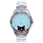 Sneaky kitty Stainless Steel Analogue Watch Front