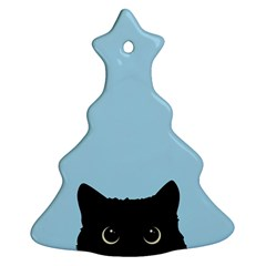 Sneaky Kitty Christmas Tree Ornament (two Sides)