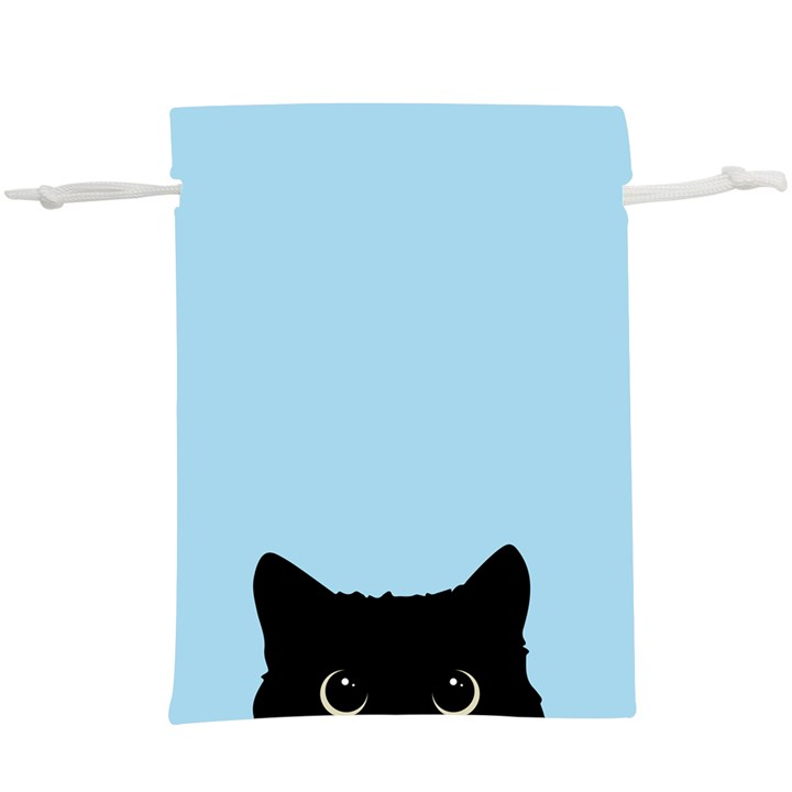 Sneaky kitty  Lightweight Drawstring Pouch (XL)