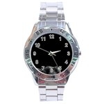 Who is there? Stainless Steel Analogue Watch Front