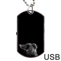 Who Is There? Dog Tag Usb Flash (two Sides)