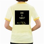 Who is there? Women s Fitted Ringer T-Shirt Back