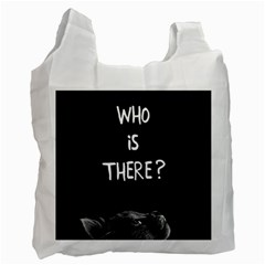 Who Is There? Recycle Bag (two Side)