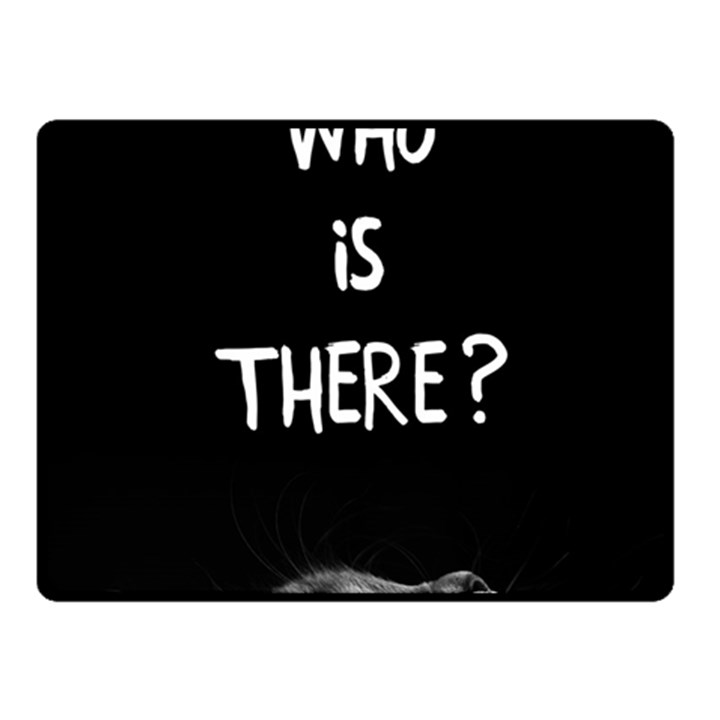 Who is there? Fleece Blanket (Small)