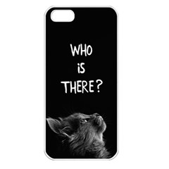 Who Is There? Iphone 5 Seamless Case (white)