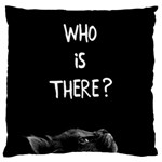 Who is there? Standard Flano Cushion Case (Two Sides) Back