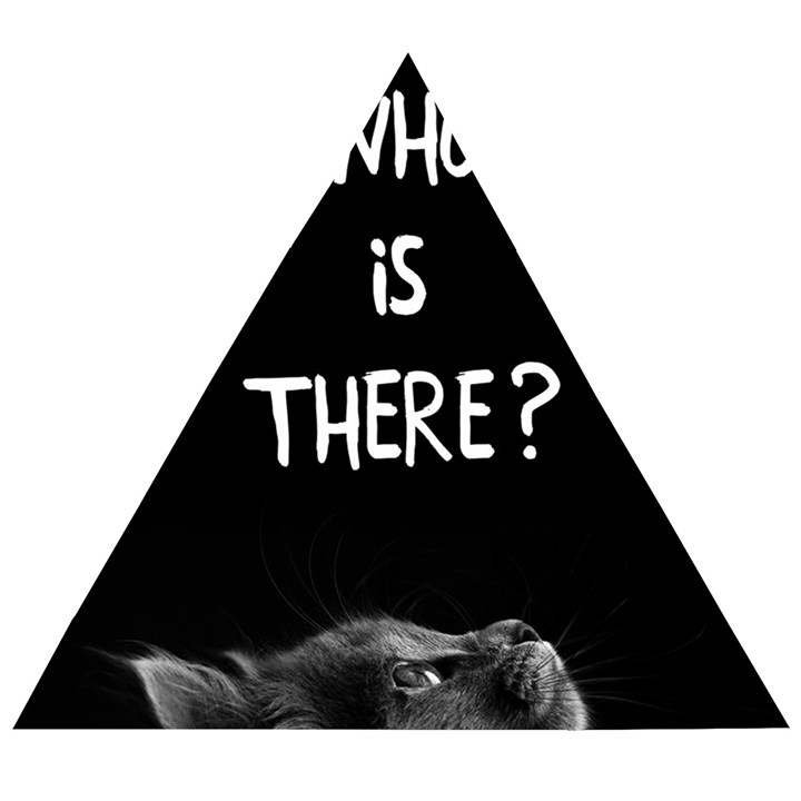 Who is there? Wooden Puzzle Triangle