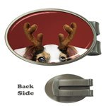 Christmass deer Money Clips (Oval)  Front