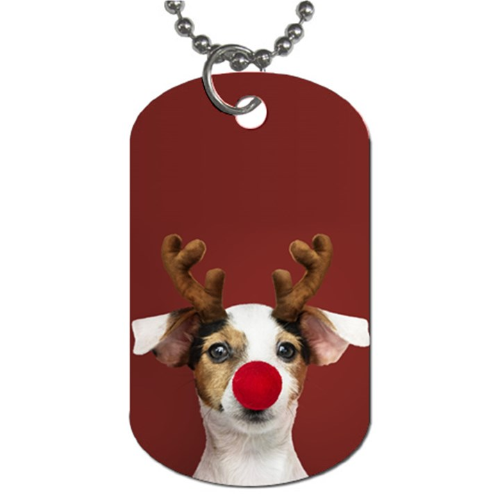 Christmass deer Dog Tag (Two Sides)