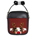 Christmass deer Girls Sling Bag Front