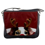 Christmass deer Messenger Bag Front