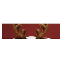 Christmass Deer Satin Scarf (oblong)