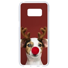 Christmass Deer Samsung Galaxy S8 White Seamless Case