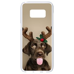 Christmas Dog Samsung Galaxy S8 White Seamless Case