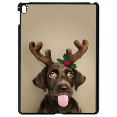Christmas Dog Apple Ipad Pro 9 7   Black Seamless Case