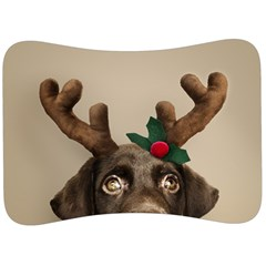 Christmas Dog Velour Seat Head Rest Cushion