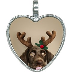 Christmas Dog Heart Necklace