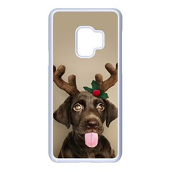 Christmas Dog Samsung Galaxy S9 Seamless Case(white)