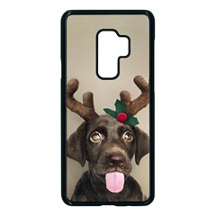 Christmas Dog Samsung Galaxy S9 Plus Seamless Case(black)