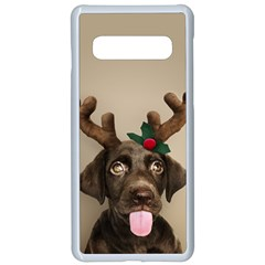Christmas Dog Samsung Galaxy S10 Seamless Case(white)