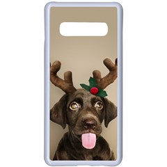 Christmas Dog Samsung Galaxy S10 Plus Seamless Case(white)