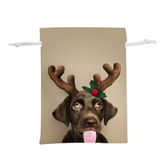 Christmas Dog Lightweight Drawstring Pouch (s)