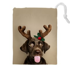 Christmas Dog Drawstring Pouch (5xl)