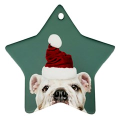 Santa Dog Ornament (star)